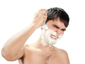 Повреждение родинки во время бритья