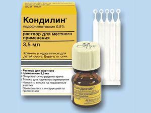 Кондилин для лечения кондилом