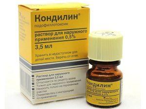 Кондилин для лечения кондилом в толстой кишке